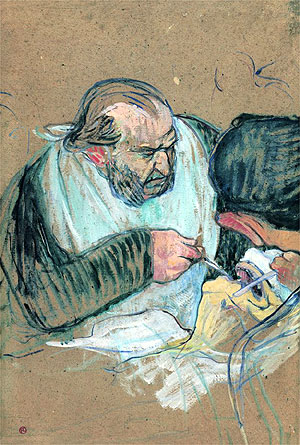 Dr Pean operating, 1891-1892, by Henri de Toulouse-Lautrec