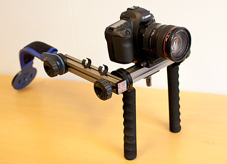 My Canon 5D MkII mounted on a DV Rig Pro.
