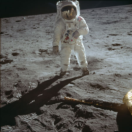 Buzz Aldrin on the Moon. Photo by Neil Armstrong/NASA.
