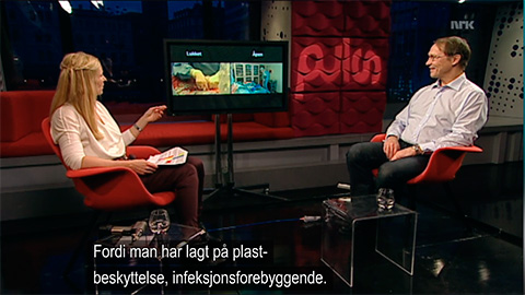 Studio discussion. Screenshot from nrk.no.